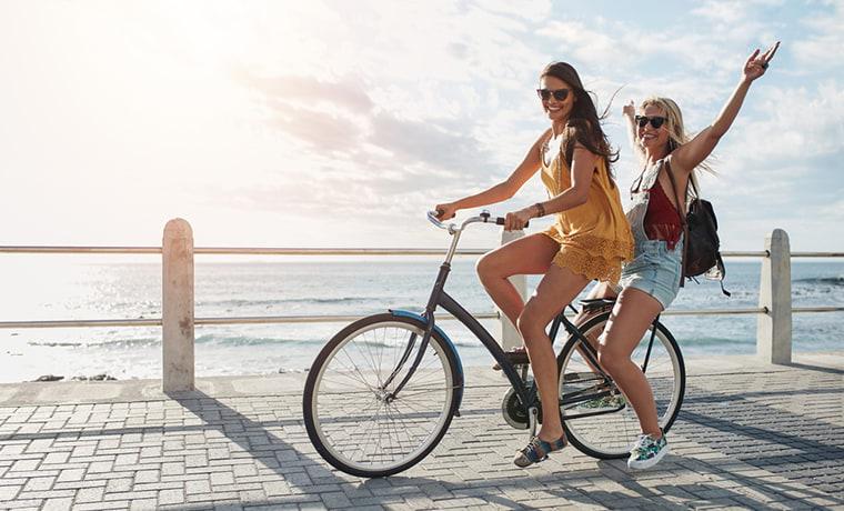 Занятие спортом на велосипеде