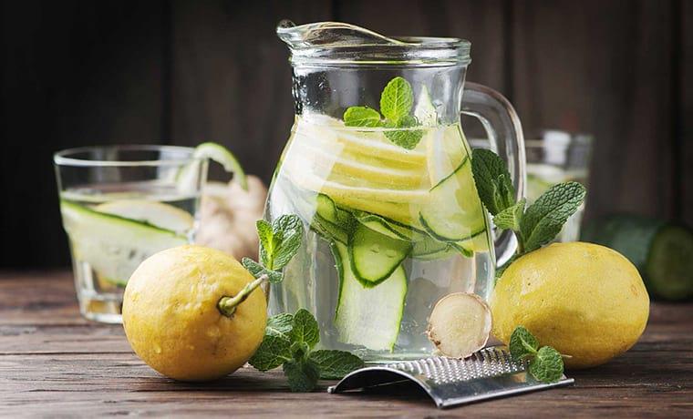 огуречно-лимонный напиток