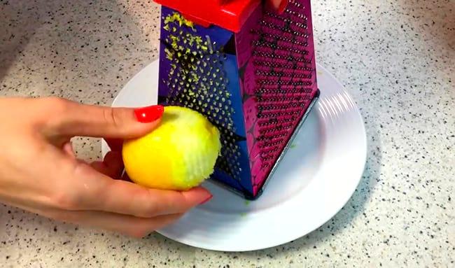 готовим цедру лимона