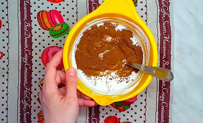смешиваем с какао
