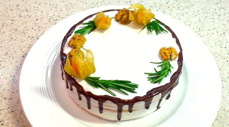 Диетический торт Лимончелло