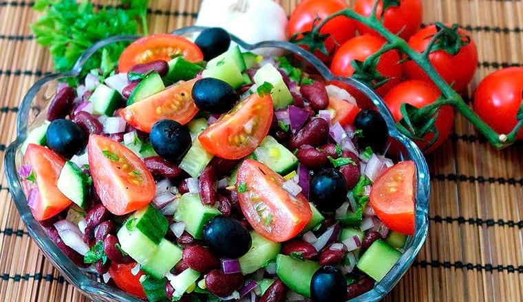 Салат с овощами без майонеза