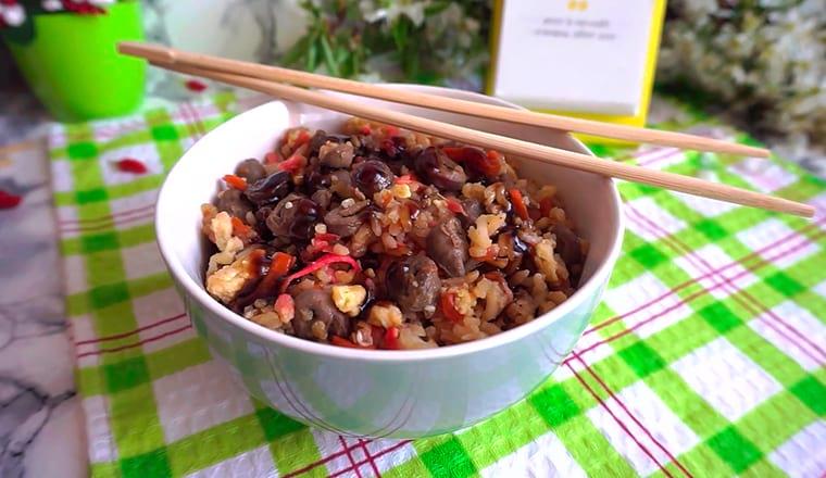 Рис по-тайски с мясом
