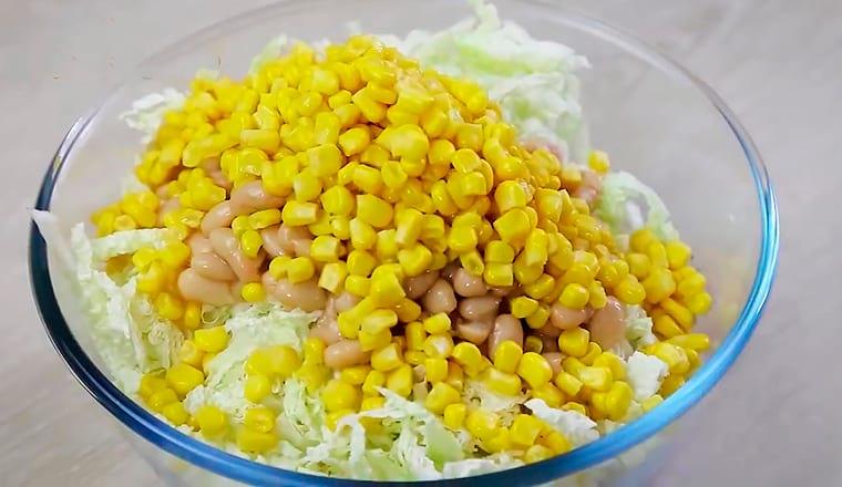 Фасоль, капуста, кукуруза