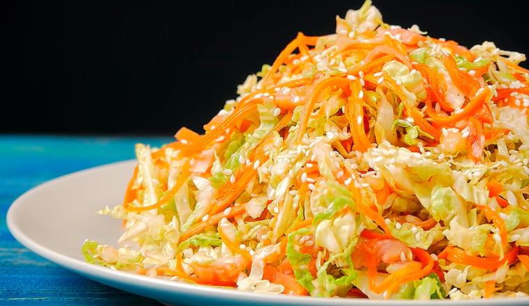 Салат с горбушой