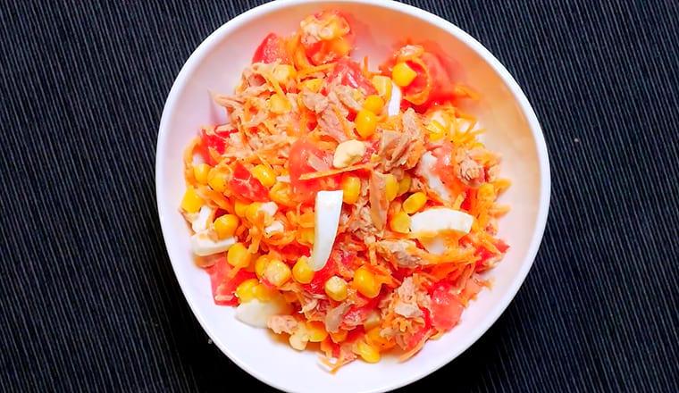 Рецепт с консервированным тунцом и морковью