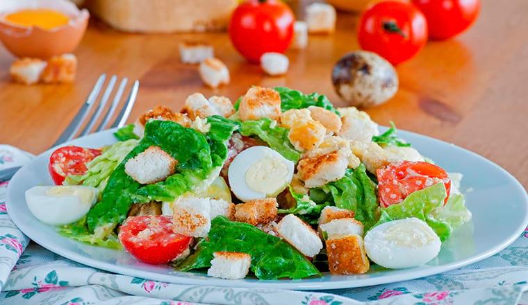 Домашний салат Цезарь