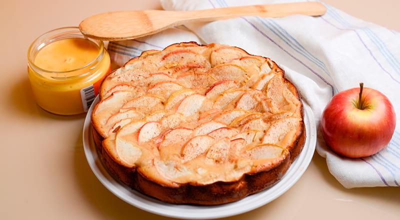 Яблочная шарлотка правильного питания