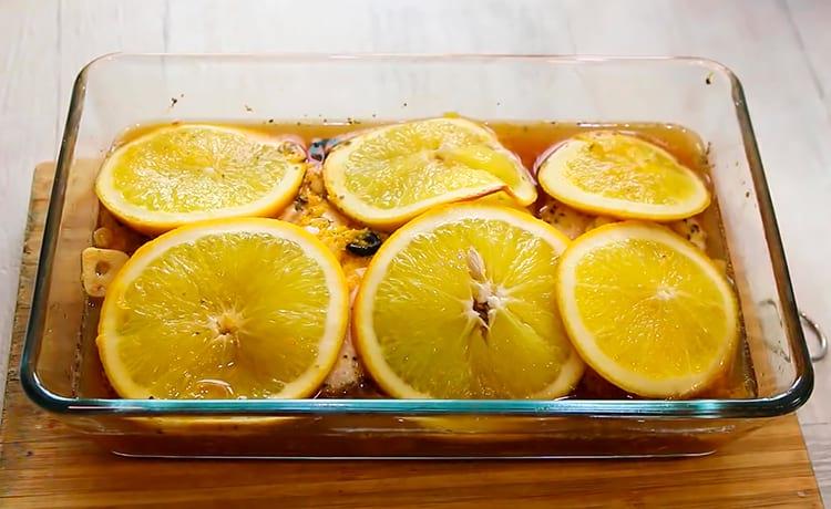 Грудка в апельсиновом маринаде