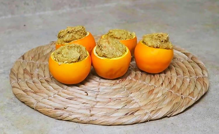 Овсяные маффины в апельсинах