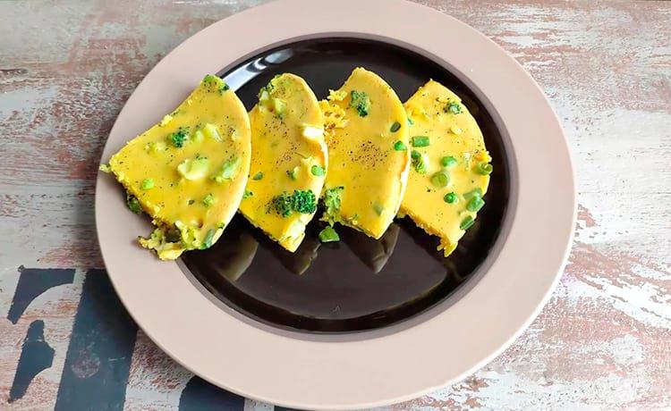 Рецепт с брокколи и зеленым горошком