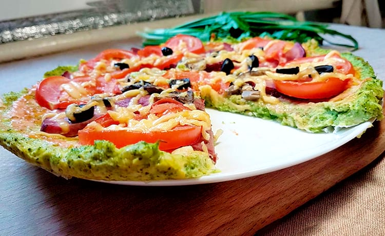 Пицца из брокколи без муки
