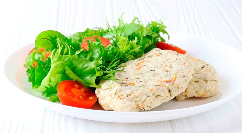 ПП куриные котлеты с овощами