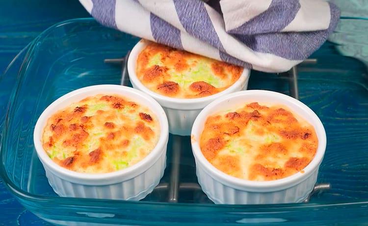 Десертное суфле из кабачков