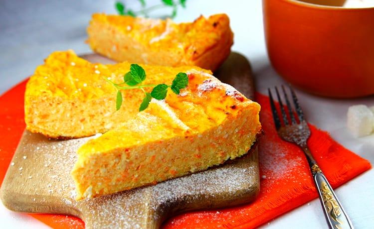 Творожно-морковная запеканка с кефиром